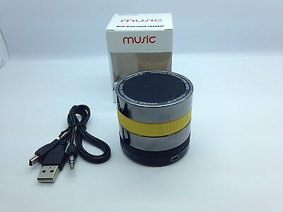 Lot Of 5 New Round Bluetooth Speaker Portable Stereo Wireless Universal Yellow