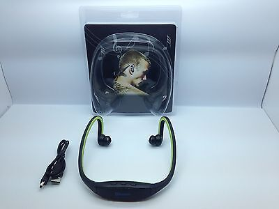 Lot Of 4 New Bluetooth Headset Over Behind The Neck Wireless Universal Green