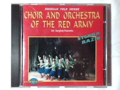 CHOIR AND ORCHESTRA OF THE RED ARMY Russian folk songs cd SERGHEJ NAZARKO RARO