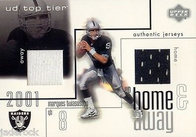 Marques Tuiasosopo 2001 Upper Deck Rookie Top Tier Home Away Jersey RC
