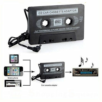 New Car Tape Cassette to 3.5mm AUX Audio Adapter for iPod Video/MP3/CD/DVD