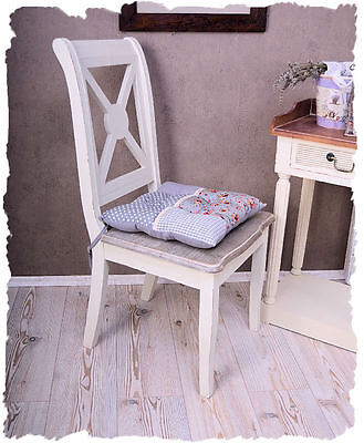 nostalgischer stuhl im antik stil holz weiss shabby chic eur 109 00 picclick de. Black Bedroom Furniture Sets. Home Design Ideas