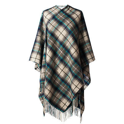 EDINBURGH LAMBSWOOL 100% Luxury Lambswool Ladies Cape Dover Grey Check