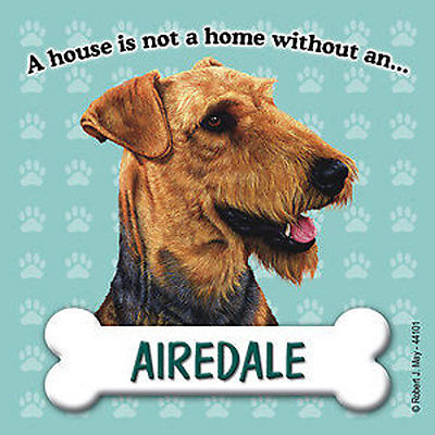 Airedale Magnet Sign House Is Not A Home