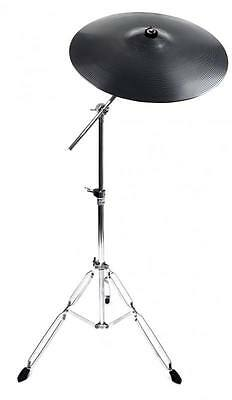 "Stagg 16"" Plastic Practice Cymbal With Mapex Tornado Boom Cymbal Stand"