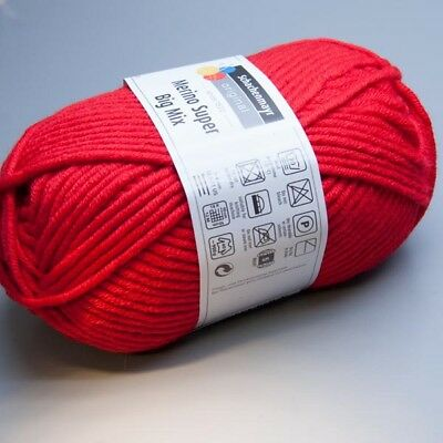 Schachenmayr Merino Super Big Mix 030 kirsche 100g Wolle