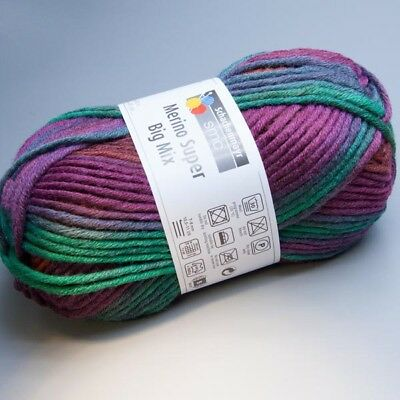Schachenmayr Merino Super Big Mix 182 art deco color 100g Wolle