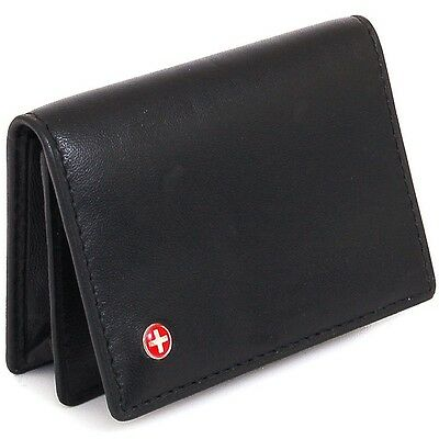Expandable Business Card Case Leather Wallet Thin Slim Money Clip Alternative NW
