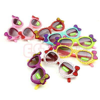 Cute Baby Boys Girls Kids Sunglasses Glass Child Goggles Bow Eyewear UV 400 New