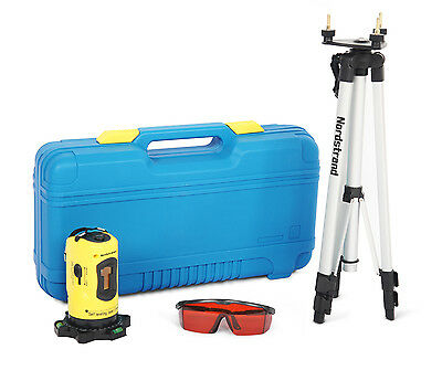 Nordstrand CL01 Automatic Self Levelling Cross Line Laser Level + Tripod Set
