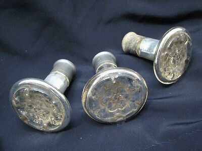 3 Antique Mercury Glass Door Knobs Handles Vanity Cabinet Hardware Mirror