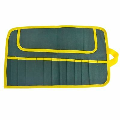 12 Pocket Canvas Tool Roll Chisel / Carpentry / Spanners / Wrenches TE712