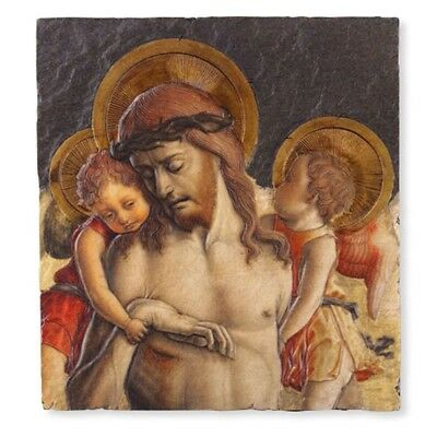 "Jesus Christ with Angels Icon 10"" Painted Resin Wall Plaque for Home or Church"