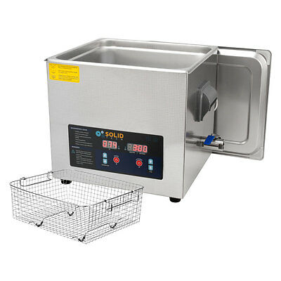 3.4 Gallon Solid Tech 13L Stainless Steel 400w Ultrasonic Cleaner  Heater Basket