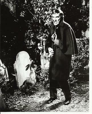 Jonathan Frid is Barnabas Collins Standing in Graveyard 8 x 10 Photo