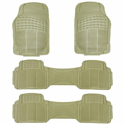 4Pc All Weather Beige Rubber Floor Mats Runners Set For Nissan Quest
