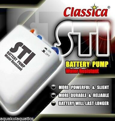 Bp011 Classica Sti Battery Air Pump Airpump Aquarium Fish Tank Live Bait Aerator