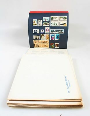Commemorative Stamp Mini Set Collection From 1971-1982 Group Of 12 Years