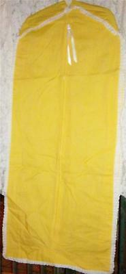 """Garment Bags Breathable Yellow Cotton 34 X 20 & 46 X 20 Both 4 1/2""""  New"""