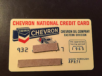 Chevron/Standard Oil Co. Eastern Division 1971 Vintage Collectors credit card