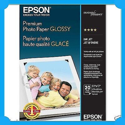 Epson S041289 A3+ Premium Glossy Photo Paper 1270/1290 20xPack/255gsm C13S041289