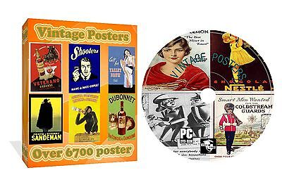 Over 6700 Vintage Rare Old Classic Posters Photos Images On Cd Rom