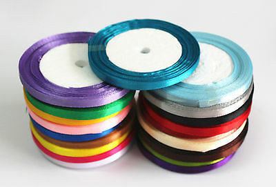 wholesale 25 Yard Multicolor Satin Ribbon Wedding Sewing Embellishment 5MM