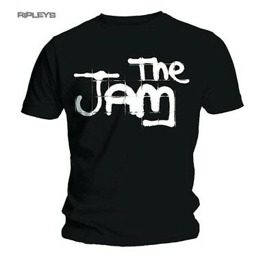Official  T Shirt THE JAM Black SPRAY LOGO Classic All Sizes