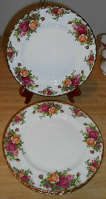 1962 - ROYAL ALBERT OLD COUNTRY ROSES ENGLAND BONE CHINA SET OF 4 SALAD PLATES