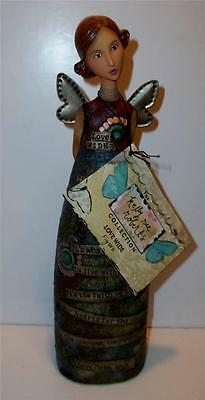 """Kelly Rae Roberts ANGEL Collection LOVE WIDE Figure 9"""" Figurine NWT"""