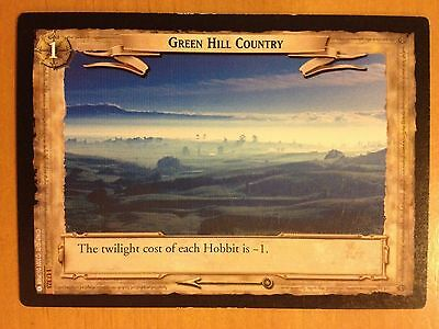 Lord of the Rings CCG Fellowship 1U323 Green Hill Country LOTR TCG