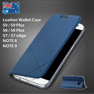 Leather Wallet Card Flip Case Cover for Samsung Galaxy S8 plus S9 S7 Note 8