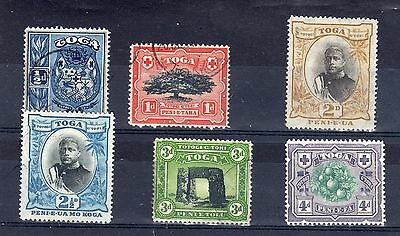 Tonga mint and used 1897 vals to 4d