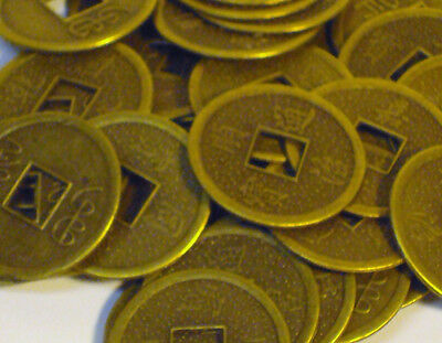 20 x LOT Emperor Feng Shui Chinese Oriental Money I CHING Coin Lucky Charm 2.5cm