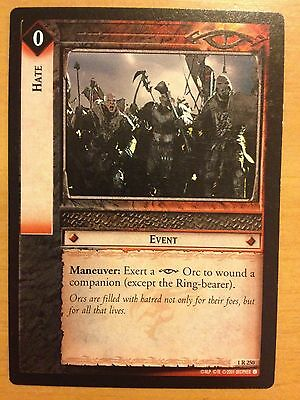 Lord of the Rings CCG Fellowship 1R250 Hate LOTR TCG