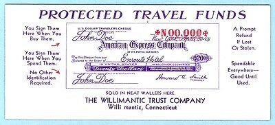 Willimantic, CT, Willimantic Trust Co., American Express advertising  blotter