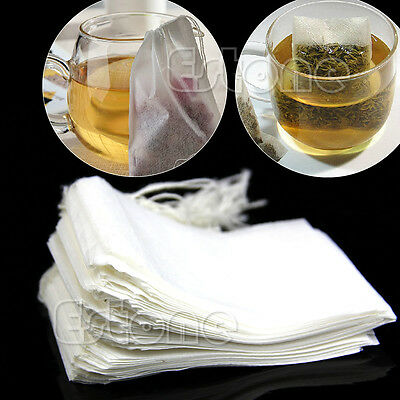 50/100/200Pcs New Empty Teabags String Heat Seal Filter Paper Herb Loose Tea Bag