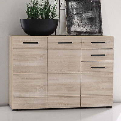 highboard skin in eiche s gerau hell sideboard kommode schrank neu. Black Bedroom Furniture Sets. Home Design Ideas