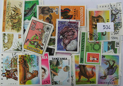 100 Tanzania stamps (534)