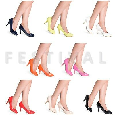 Women's Court Shoes Ladies Smart Mid Heel Work Office / Formal Shoes