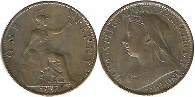 Royaume-uni/Great Britain one penny 1896 bronze VICTORIA   (mc21279)