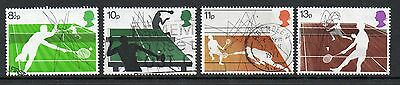GB 1977 Racket Sports fine used set stamps