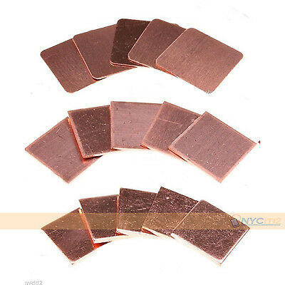 30x 15mm CPU GPU Heatsink Solution Thermal Pad Copper Shim For HP Dell ASUS ACER