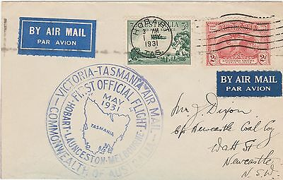 Australia 1931 First Official Airmail Victoria Hobart Cover