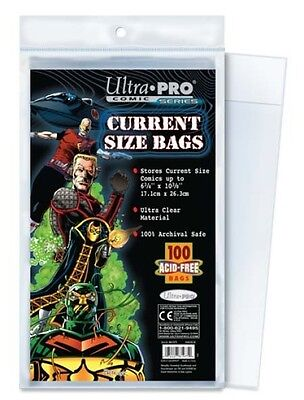 (100) Ultra Pro CURRENT / MODERN Size Bags Poly Comic Book Acid Free