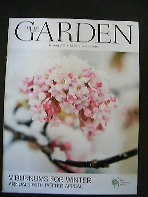 The Royal Horticultural Society. The Garden Magazine. February, 2011. VGC.
