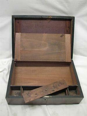 Antique Wooden Lap/Field Desk Writing Case Wood Box Tool Tole Painted