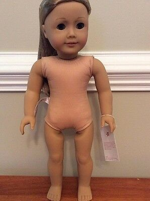 New NO BOX  NUDE AMERICAN GIRL doll 18 in ISABELE Pink hair extensions