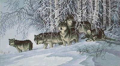 Dimensions Crafts Winter's Lace Wolves Counted Cross Stitch Kit # 35009