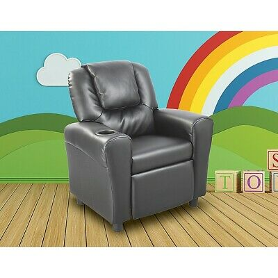 PU Leather Kids Childrens Recliner Lounge Chair Sofa with Drink Holder